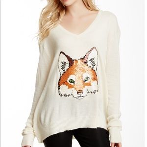 Wildfox • Couture Fox Trot Sequin V-Neck Sweater